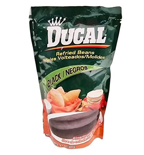 Price comparison product image Ducal Refried Black Beans 14.1 oz Frijoles Negros Volteados by Ducal