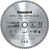Concord Blades MCB1200T080HP 12-Inch 80 Teeth TCT Ferrous Metal Cutting Blade