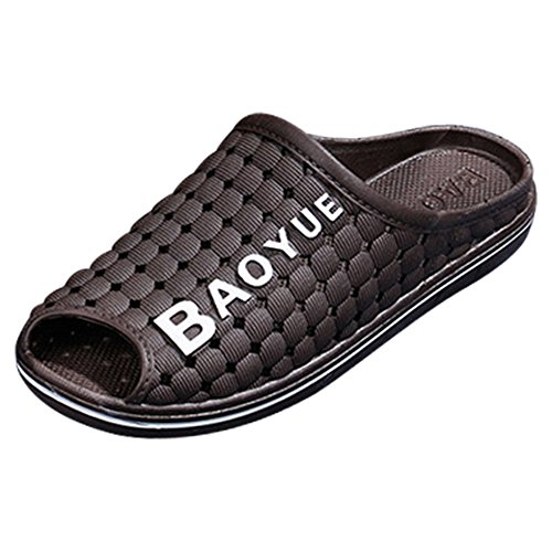 Eastlion Anti-skid Breathable Sandals Casual Soft Bottom Personalized Slippers Men Summer Hole Shoes S1 Brown PVvWTGOU64