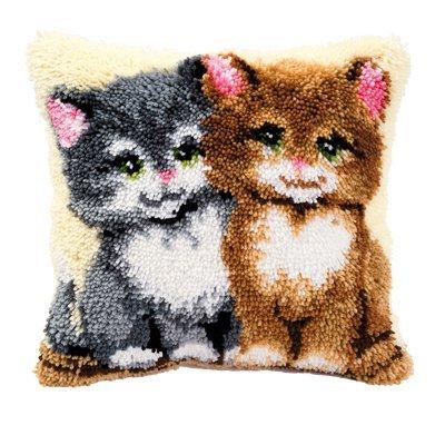 Vervaco Knüpfkissen Katzen