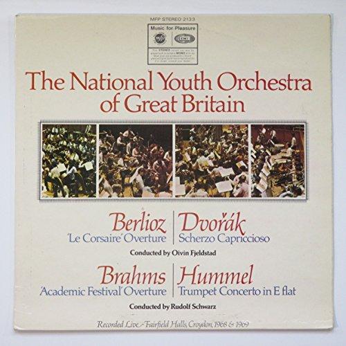 Berlioz: 'Le Corsaire' Overture / Dvorak: Scherzo Capriccioso Conducted By Oivin Fjeldstad / Brahms: 'Academic Festival' Overture / Hummel: Trumpet Concerto in E Flat by Music for Pleasure Stereo MFP 2133