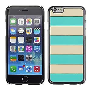 [Neutron-Star] Snap-on Series Teléfono Carcasa Funda Case Caso para Apple (4.7 inches!!!) iPhone 6 / 6S [Patrón Beige líneas horizontales de Verano]