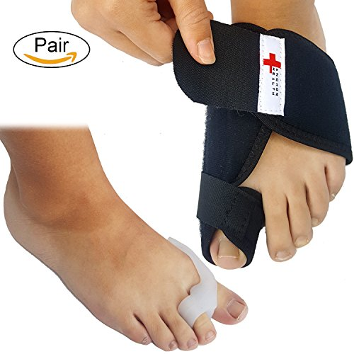 Bunion Corrector and Toe Separator Splint Set | For Maximum Foot Care Pain Relief | Toe Straightener and Spacer for Day and Night - Care Night Foot Splint