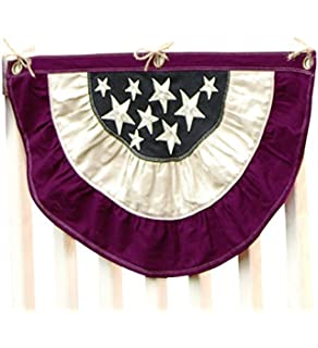 plow u0026 hearth small americana patriotic bunting with embroidered stars 100 cotton duck fabric