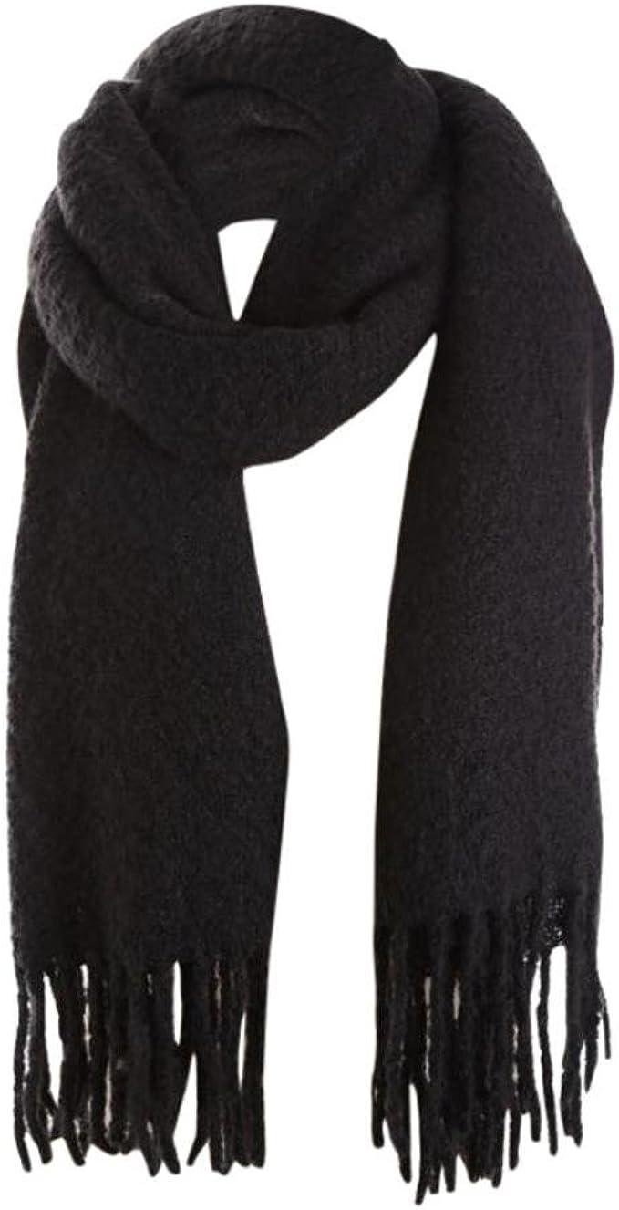 Herren Kaschmir Weich Winter Warm lange Wickeln Solide Farbe Hals Schal Schals