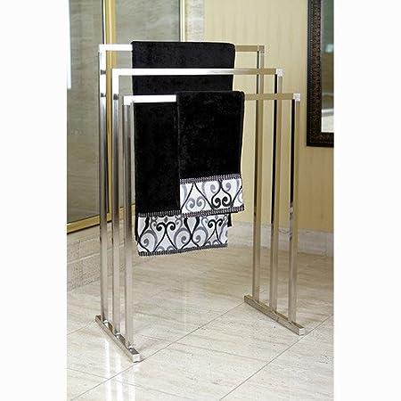 Brass Edenscape Free Standing Towel Rack Satin Nickel Amazonco