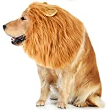 #7: VIVREAL Lion Mane Costume for Dog - Lion Dog Costume Funny Adjustable Lion Wig Easy to Fit Medium to Large Sized Dog for Halloween Christmas Party with Ears,Large Dog Costume for Pet as Lion King