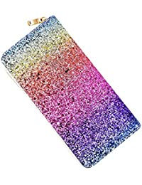 Women's Long Wallet Bling Glitter Design Clutch Shiny Purse Card Holder