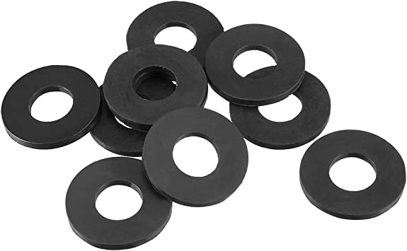 Pack of 5 uxcell Rubber Flat Washers 22mm OD 10mm ID 3mm Thickness for Faucet Pipe Water Hose