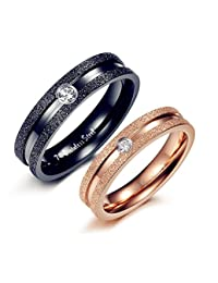 Global Jewelry Brand New Amazing Titanium We Love Each Other Wedding Band Set Anniversary/Engagement/Promise/Couple Ring Best Gift!