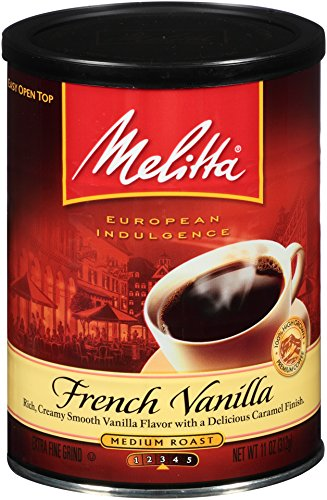 Melitta Coffee, French Vanilla Deposit, Medium Roast, Flavored, 11-Ounce
