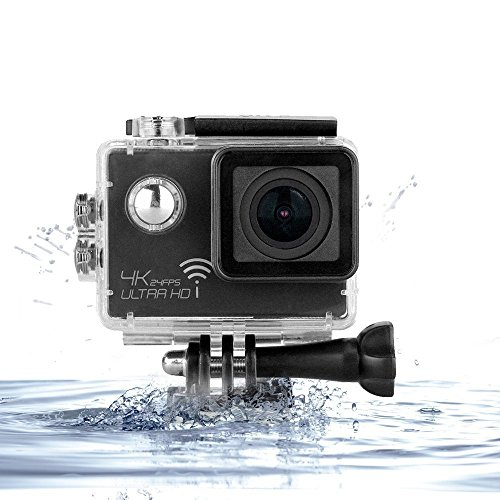 Amazon Lightning Deal 93% claimed: Action Camera, MiSafes Waterproof 4K 2160P Diving Camcorder 170° Wide Angle Full HD WIFI Car DVR Cam 30m Digital Underwater Sports & Action Video Cameras with Shockproof Case + Accessories Kit ( Black)