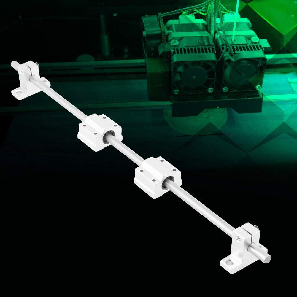 ensemble de bloc de roulement SC8UU pour imprimante 3D Rail de guidage lin/éaire 8mm x 400mm CNC tige darbre de Rail lin/éaire