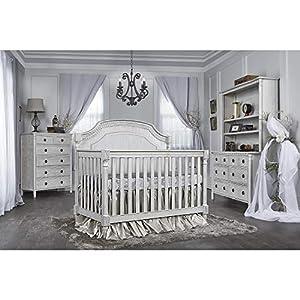 Evolur Julienne 5-in1 Convertible Crib, Antique Grey Mist