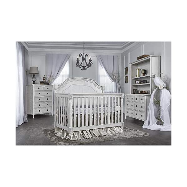 Evolur Julienne 5-in1 Convertible Crib, Antique Grey Mist