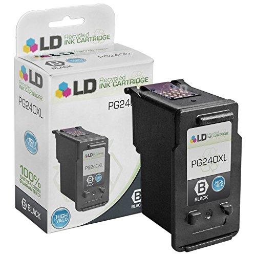 LD © Remanufactured Canon PG-240 / 5207B001 / PG-240XL / 5206B001 High Yield Black Ink Cartridge for PIXMA MG2120, MG3122, MG3222, MG3522, MX372, MX432, MX452, MX459, MX472, MX479, MX512, MX522