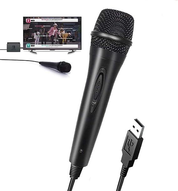 TUTUO Micrófono USB para Nintendo Switch, Alto Rendimiento del Super Ligero Micro Altavoz de Karaoke, Compatible con Nintendo Switch/PS3/PS4/Xbox One/Wii/PC/Game(Guitar Hero,Rock Star,Lets Sing): Amazon.es: Electrónica