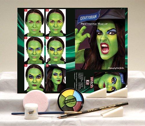 Graftobian LA2512EL Witch Character Makeup Kit]()