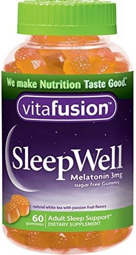 Vitafusion SleepWell Gummies White Tea with Passion Fruit 60 Each (Pack of 3)