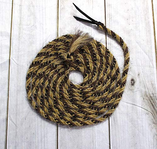 M-Royal White Stripes Horse Hair Rope ()
