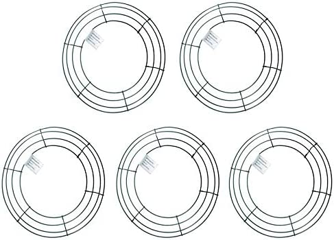 Amazon Com Mtb Wire Wreath Frame 12 Inch Green Pack Of 5 Wreath