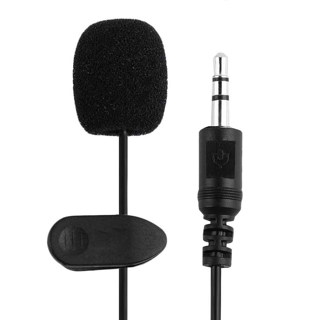 Kineca 3.5mm Cierres de Voz Externa del Tubo de Solapa micr/ófono de Solapa Mic para el tel/éfono Inteligente PC port/átil