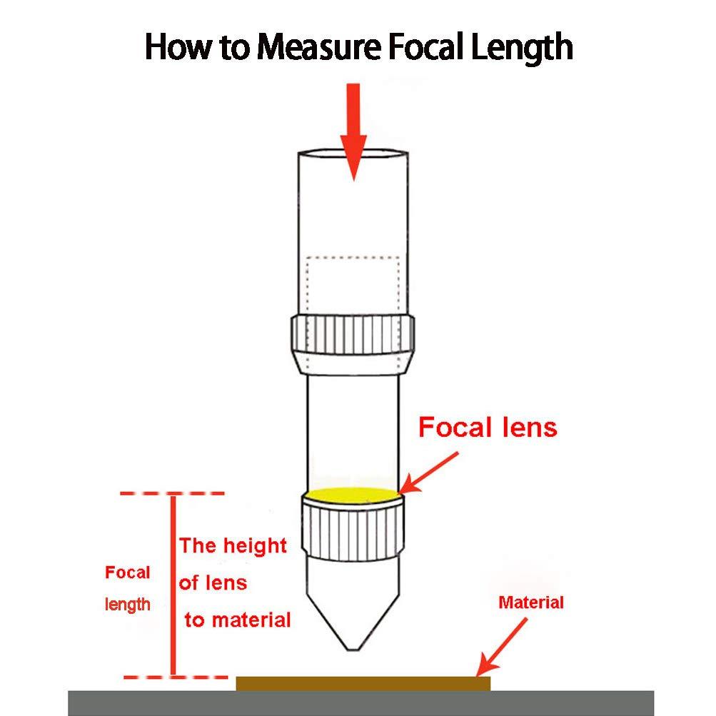 3//76.2mm TEN-HIGH Diam 18mm Lente focal la M/áquina de Corte y de Grabado L/áser CO2,ZnSe,FL 3