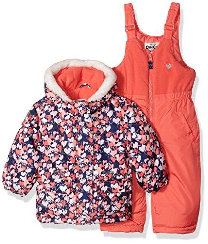 OshKosh B'Gosh Osh Kosh Baby Girl's Pink Infant Girls HW Snowsuit B2175s15 Outerwear, Pink, 18M