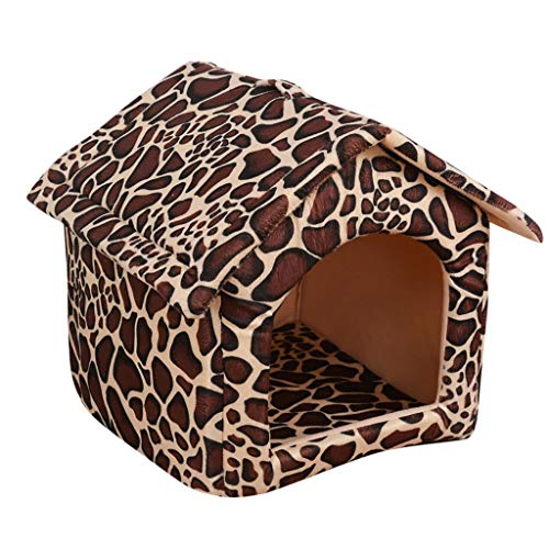 Pets House for Cats/Dogs Beds, Comfortable Soft Mat Pad Puppy Cave Indoor Pet Cats Dogs Nest for Winter Autumn,Pet…