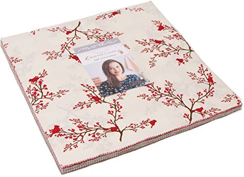 (Return to Winter's Lane Layer Cake, 42-10 inch Precut Fabric Quilt Squares by Kate & Birdie)