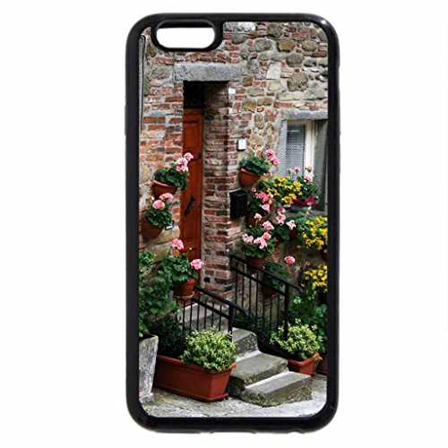 iPhone 6S / iPhone 6 Case (Black) outdoor flowers