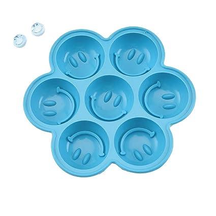 Shuda Molde de silicona para tartas, reutilizable, cara sonriente, moldes de jabón para