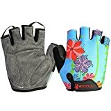BOODUN Women's Shock-Absorbing Gel Pad Breathable Half Finger Mountain Bicycle Bike Road Racing Gloves