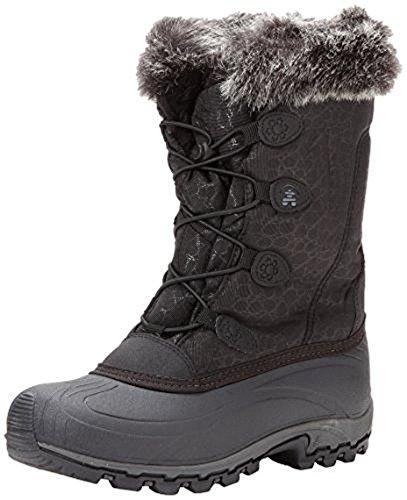 Kamik Womens Momentum Snow Boots & Toe Warmers Bundel Zwart