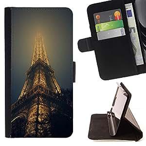 Momo Phone Case / Flip Funda de Cuero Case Cover - TORRE EIFFEL EN NIEBLA - Samsung Galaxy S6 Active G890A