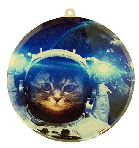- Grimm Astronaut Cat Acrylic Suncatcher Window Ornament, 3 1/2 Inch