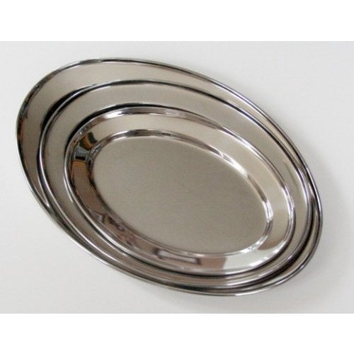 3 Pc. Stainless Steel Oval Serving Set 14 In, 16 In, 18 In ()