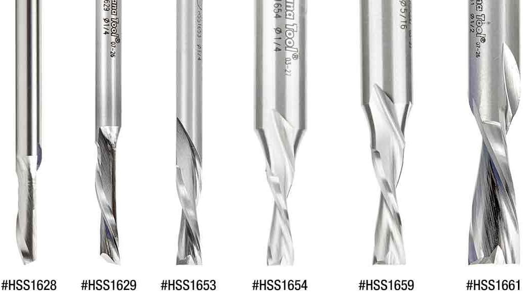 Amana Tool HSS1662 HSS Spiral Aluminum Cutting Double Flute Down-Cut 1//2 D x 1-1//2 CH x 1//2 SHK 3-1//2 Inch Long Router Bit