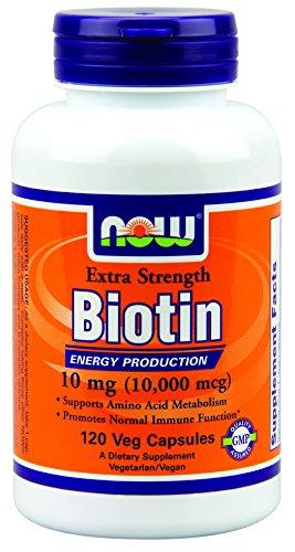 Теперь Продукты Биотин дополнительные силы Вег капсулы, 10 мг, 120 Граф