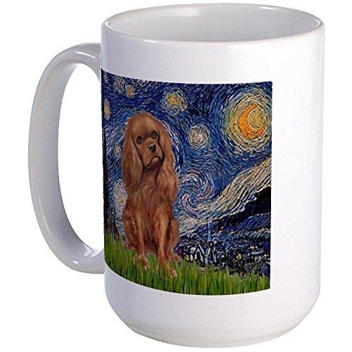 - CafePress - Starry Night Ruby Cavalier Large Mug - Coffee Mug, Large 15 oz. White Coffee Cup