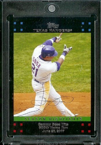 2007 Topps Update # 205 Sammy Sosa - Season Highlight - 600th HR - Texas Rangers - MLB Baseball Card