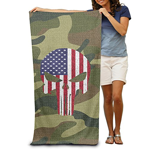 Quick Dry The Punisher Beach Blanket -multifunctional Outdoor Blanket:Suitable For Swimming,backpacking,sports,travel,camping,picnic Etc - Large Microfiber Travel Beach Towel - Portable Fast Dry Light Thin - 80cm130cm (Hannah Blanket Montana)
