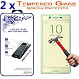2x Sony Xperia X Glass Screen Protector, [2 Pack] For Sony Xperia X 5.0 inch Nacodex Tempered Glass Screen Protector