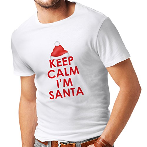 Slutty Halloween Outfits (lepni.me T Shirts For Men Keep Calm I'm Santa, Holiday Clothes - Santa Suit (XXX-Large White Multi Color))