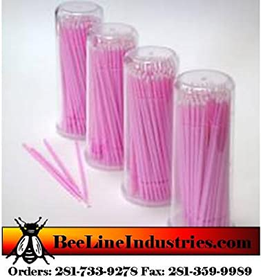 Beauty7 Disposable Micro Applicator Brushes for Eyelash Extensions 100 Packs