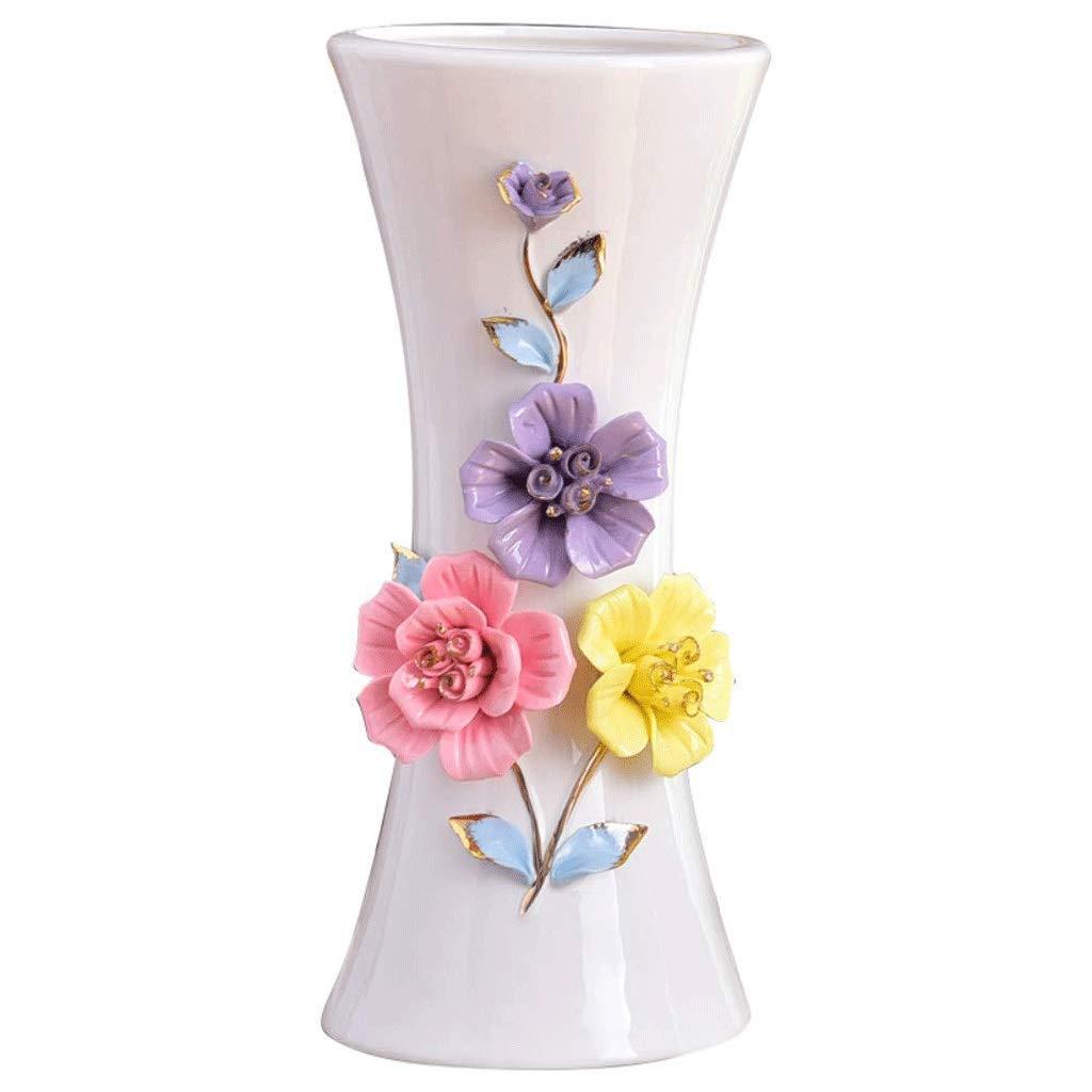 シックな花瓶 花瓶現代のミニマリストセラミックフラワーアレンジメントAXZHYZ190530015小さな新鮮な家のリビングルームダイニングルームのテーブルデコレーション装飾クリエイティブ花11×25.5×12センチ 写真シックな花瓶シリンダー花瓶、装飾用花瓶 B07SJ8FDGH