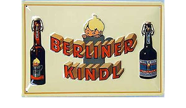Berliner Kindl 2 botellas Cartel de chapa, 50 x 35 cm ...