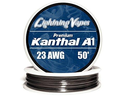 Genuine Lightning Vapes ® 23 AWG Kanthal A1 Wire 25' 50' 100' 250' 500' 1000' (50')