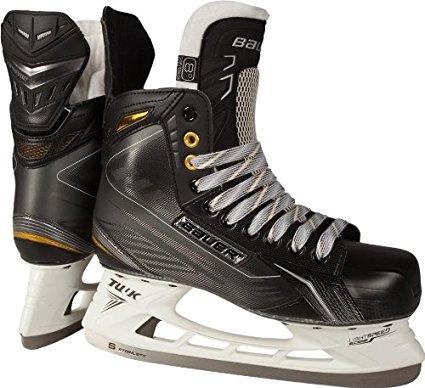 Bauer Supreme 170 Ice Skates [SENIOR],Black / White,6 D(M) US (Bauer Mens Hockey Ice Skates)