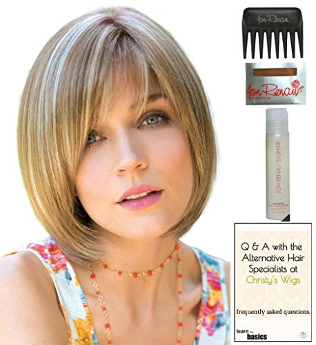 Erika Wig by Amore, 15 Page Christy's Wigs Q & A Booklet, 2oz Travel Size Wig Shampoo, Wig Cap & Wide Tooth Comb COLOR SELECTED: STRAWBERRY SWIRL by Amore & Christy's Wigs